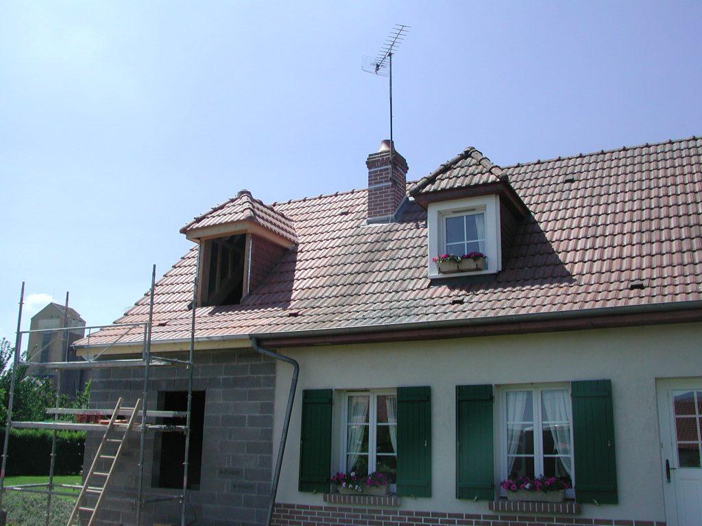 Extension et terrasse en béton désactivé